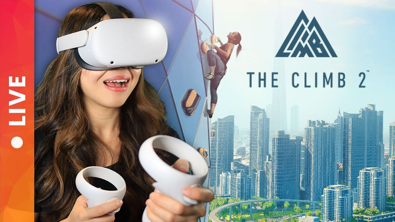 DON'T LOOK DOWN? The Climb 2 on Oculus Quest 2 Gameplay & Live Impressions!