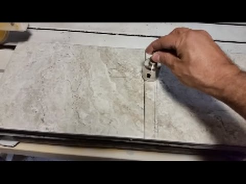 How To Drill A Hole In A Porcelain or Ceramic tile - Very Easy - Using Diamond Bit
