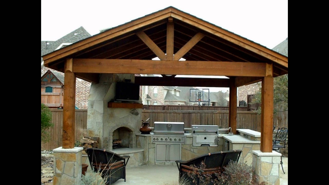 Marvelous Backyard Kitchen