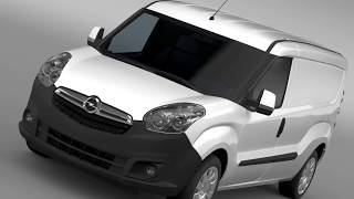 3D Model of Opel Combo LWB Cargo (D) 2015 Review