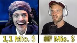 Wieviel verdienen die Stars auf Youtube, Twitch und Instagram im Monat?