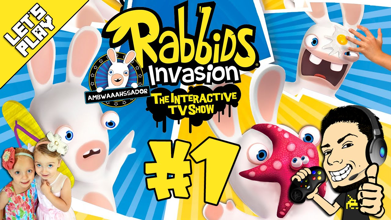 Let's Play Rabbids Invasion Interactive Tv Show Game #1 Playthrough | Juniors Toons | #Rabbids