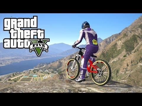 GTA 5 - Descendre à +100Kmh avec ce vrai vélo Enduro !