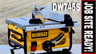 aMAZING DEWALT TABLE SAW MODEL DW745S!!  TOOL REVIEW TUESDAY!