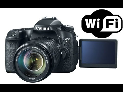 Canon EOS 70D DSLR Camera WiFi Setup & Demo