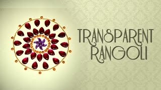 DIY : Kundan Rangoli | Rangoli Designs with Kundan | Transparent Rangoli