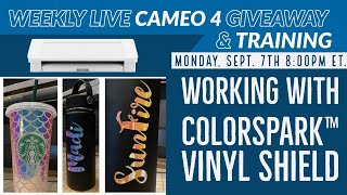 TRW Silhouette Cameo 4 Giveaway & FREE Live Training! Working with ColorSpark™ Vinyl Shield Material
