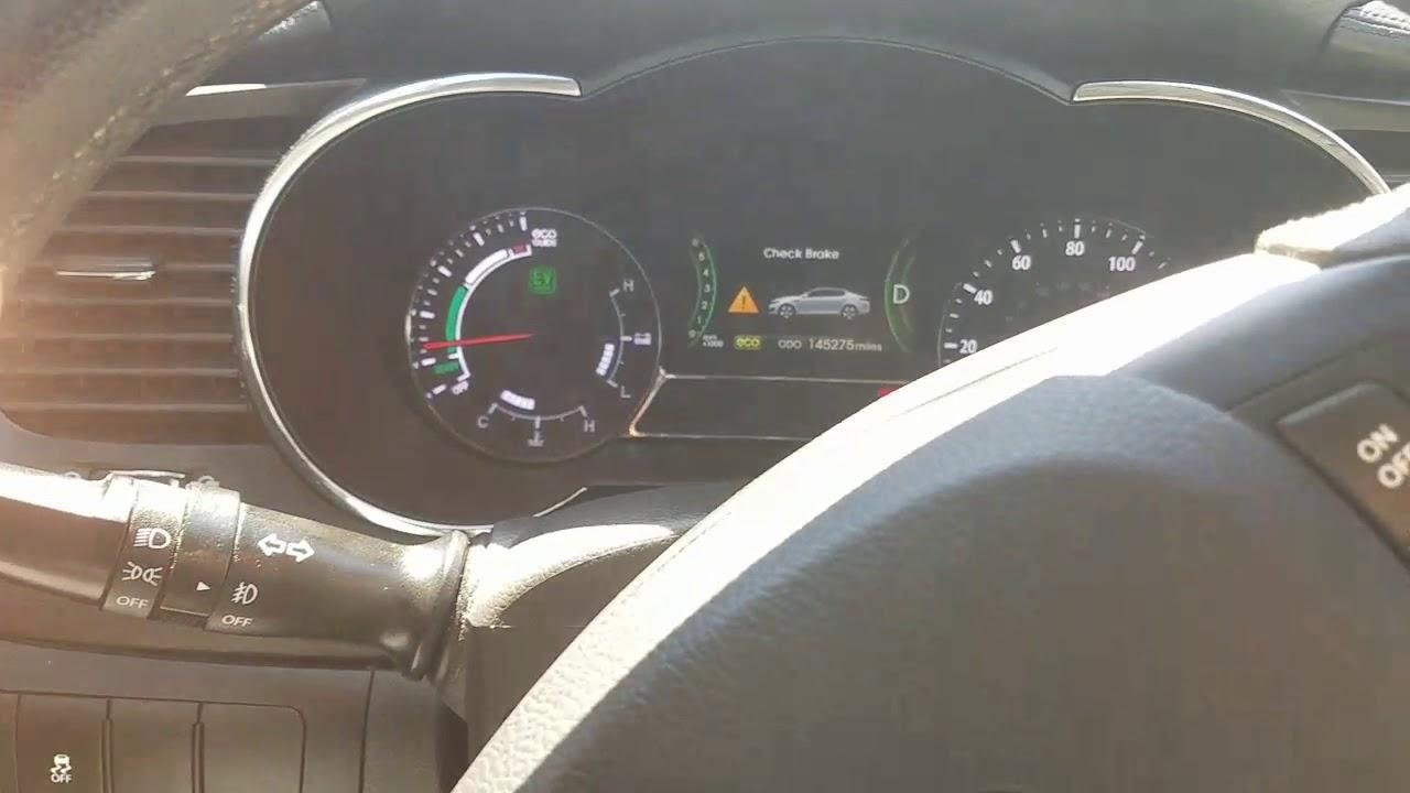 Check Brake Light On 2011 Kia Optima Hybrid Youtube
