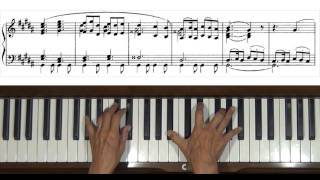 Mussorgsky Pictures at an Exhibition The Old Castle Piano Tutorial