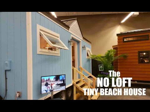 No Loft A Tiny Nantucket Style Beach House on wheels YouTube