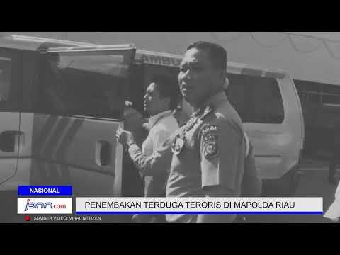 Detik - Detik Penembakan Terduga Teroris di Mapolda Riau