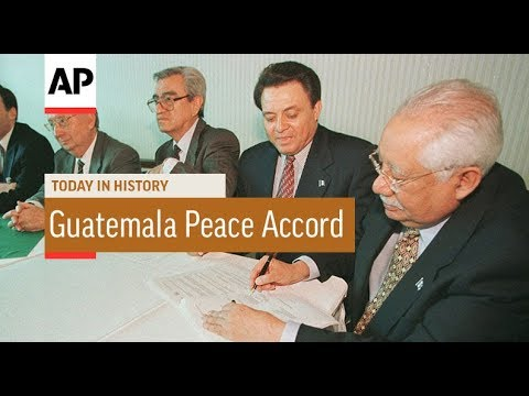 Guatemala Peace Accord - 1996 | Today In History | 29 Dec 17