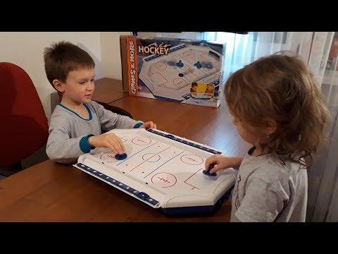 Аэрохоккей настольный Распаковка и обзор игрушки для детей и взрослых