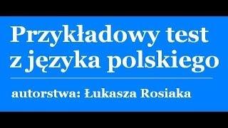 Przykładowy test z języka polskiego