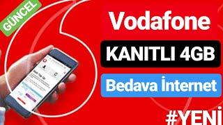 Vodafone 4gb Bedava İnternet 2019 #yenİ