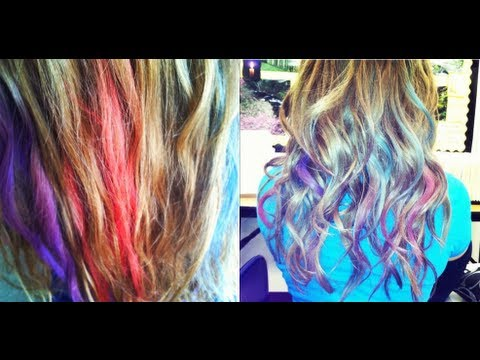 how to color your hair with chalk pastels youtube