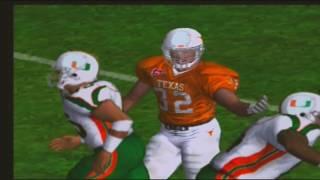 1 Miami Hurricanes 2 Texas Longhorns NCAA Football 2003 video game