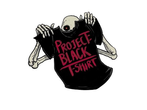 Project: Black T-Shirt Channel Trailer, Weekly Horror Movie Reviews and Book Pairings