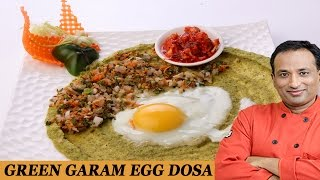Green Garam Egg Dosa..