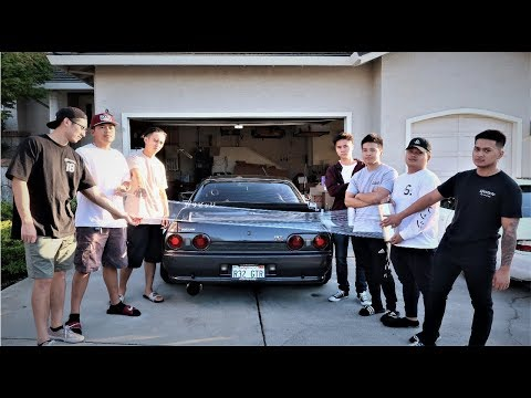 SARAN WRAPPING MY FRIEND'S NISSAN GT-R PRANK!