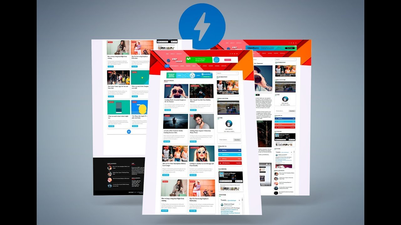 Amp Touch - Blogger template AMP HTML Gratis - YouTube