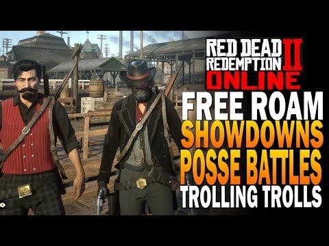 Economy Update Posse Free Roam, Showdowns Trolling Trolls! Red Dead Redemption 2 Online [RDR2]