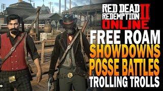 Economy Update Posse Free Roam, Showdowns Trolling Trolls! Red Dead Redemption 2 Online [RDR2] thumbnail