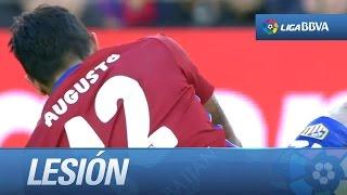 Lesión de Augusto Fernández al intentar recuperar un balón