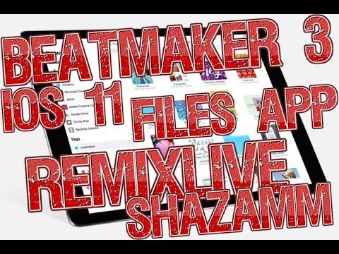 IOS 11 Files App BeatMaker 3 Drag and Drop