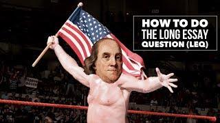 AP التاريخ مقال طويل السؤال (LEQ) شرح