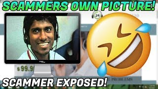 Showing a scammer a picture of himself! + Reaction