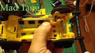 Tamiya mini 4wd High speed VS chassis 100% floating Gear system transmission testing