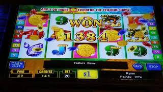 Lucky Fountain slot bonus jackpot high limit $20 bet