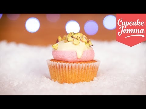 Cranberry, Pistachio & White Chocolate Cupcakes for Christmas! | Cupcake Jemma