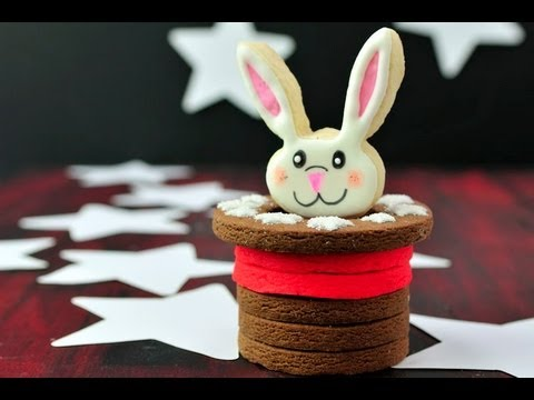 How To Decorate Bunny Cookie Pop, 3D Cookie Hat Tutorial