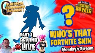 WHO'S THAT FORTNITE SKIN !? 🎧 Headphones GIVEAWAY ! 🎧 Fortnite Battle Royale 🔴 Live RW [Part 1 of 2]