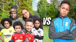 CAN I BEAT MY WHOLE FAMILY IN A 1v1 FOOTBALL MATCH?