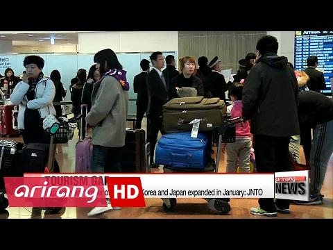 Gap between number of tourists to Korea and Japan expands