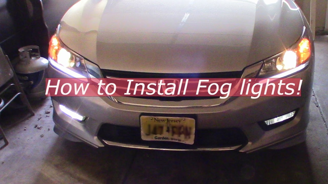 How to install Fog lights on a Honda Accord 2013-2015! Honda Accord Fog Light Wiring Harness on