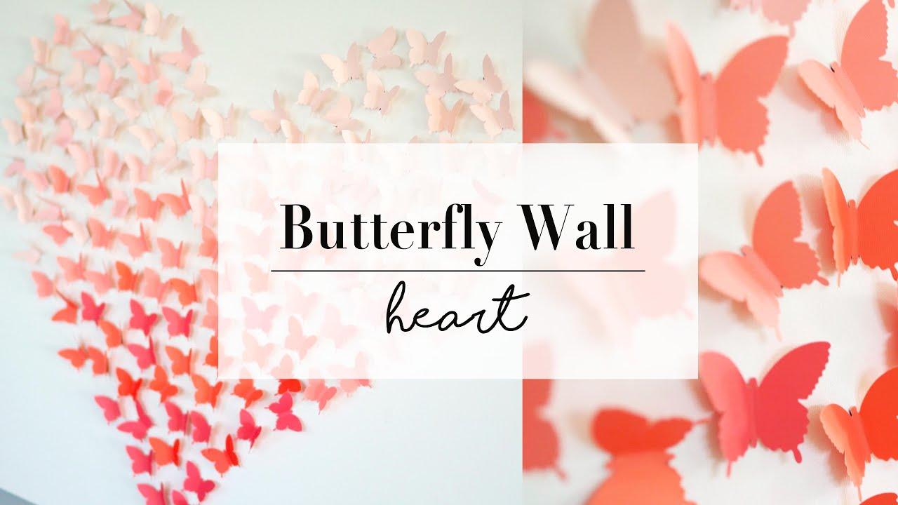 DIY Paper Butterfly Wall Art Decor | Wedding Ideas | ANN ...