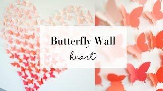 DIY Paper Butterfly Wall Art Decor | Wedding Ideas | ANN LE