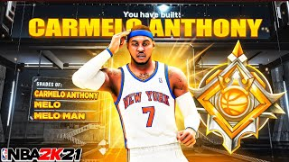 """NBA 2K21 This LEGEND CONTACT DUNKING """"STRETCH FOUR"""" CARMELO ANTHONY BUILD IS A GLITCH…"""