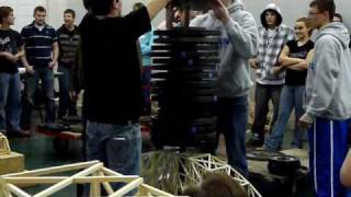 Balsa Wood Bridge Holds 795 Lbs - New World Record Gihs - Tech Wars 2011 - Nccc