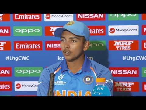 Cricket World TV  Prithvi Shaw speaks about India Winning ICC U19 Cricket World Cup Final