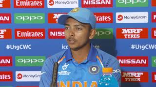 Cricket World TV - Prithvi Shaw speaks about India Winning ICC U19 Cricket World Cup Final