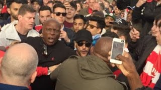 Arsenal Fans FIGHT Robbie From ArsenalFanTV!! | Arsenal Fight | Football Fights