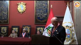 Importante historiador es condecorado como Doctor Honoris Causa UNMSM    COMPLETO CON LOGO