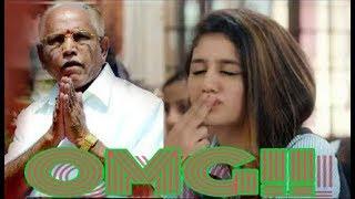"""Priya Prakash reaction to Yeddyurappa """"very funny"""""""
