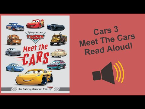 NEW! Cars 3 Meet The Cars Book - The Demolition Derby Racers