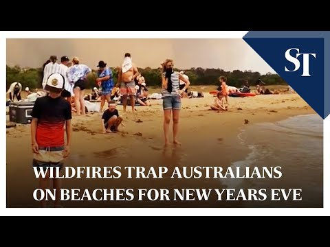 Wildfires Trap Australians On Beaches For New Years Eve